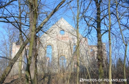 Niwiska ruins of a protestant church