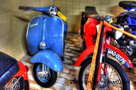 Chlewiska: Motorisation museum Vespa 150  1963